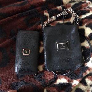 Guess wallet & cross body purse